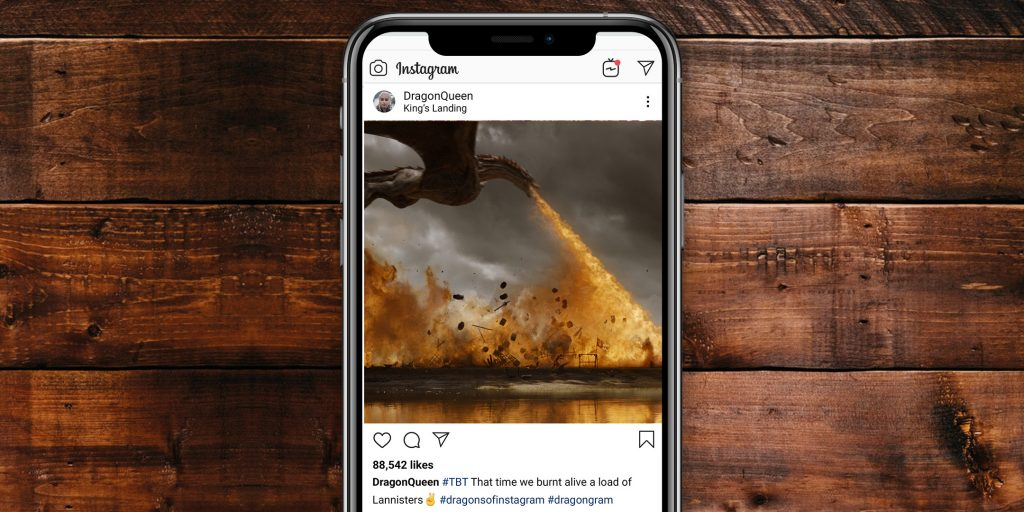If the Game of Thrones characters had Instagram